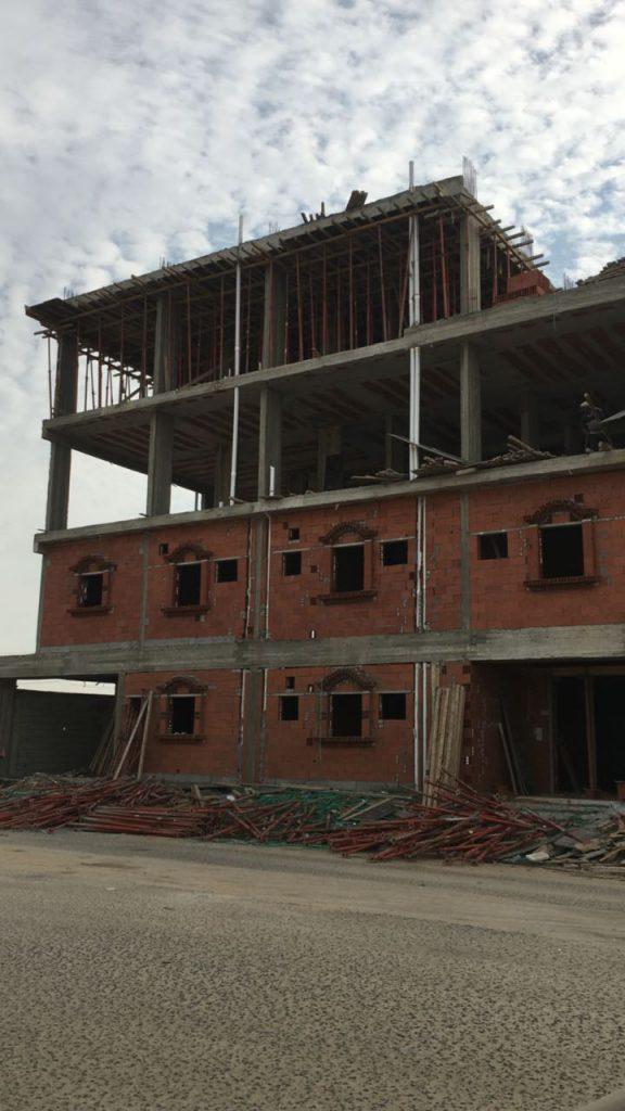 الانتهاء من أعمال العظم والبدء في المباني