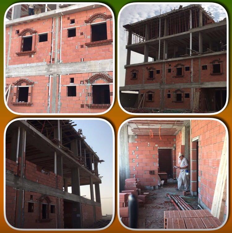 بفضل الله..تم الانتهاء من أعمال العظم والبدء في المباني